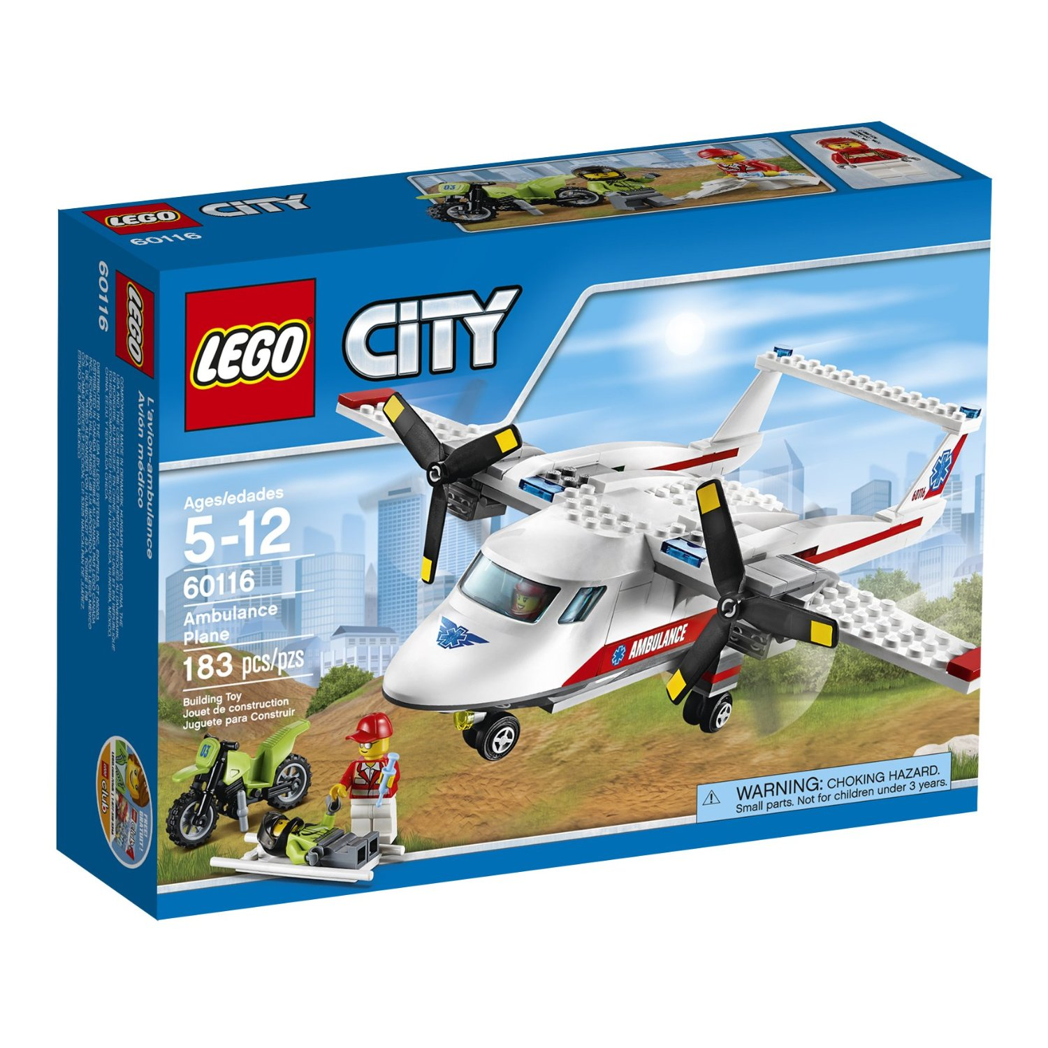 Lego 60116 City Ambulance Plane