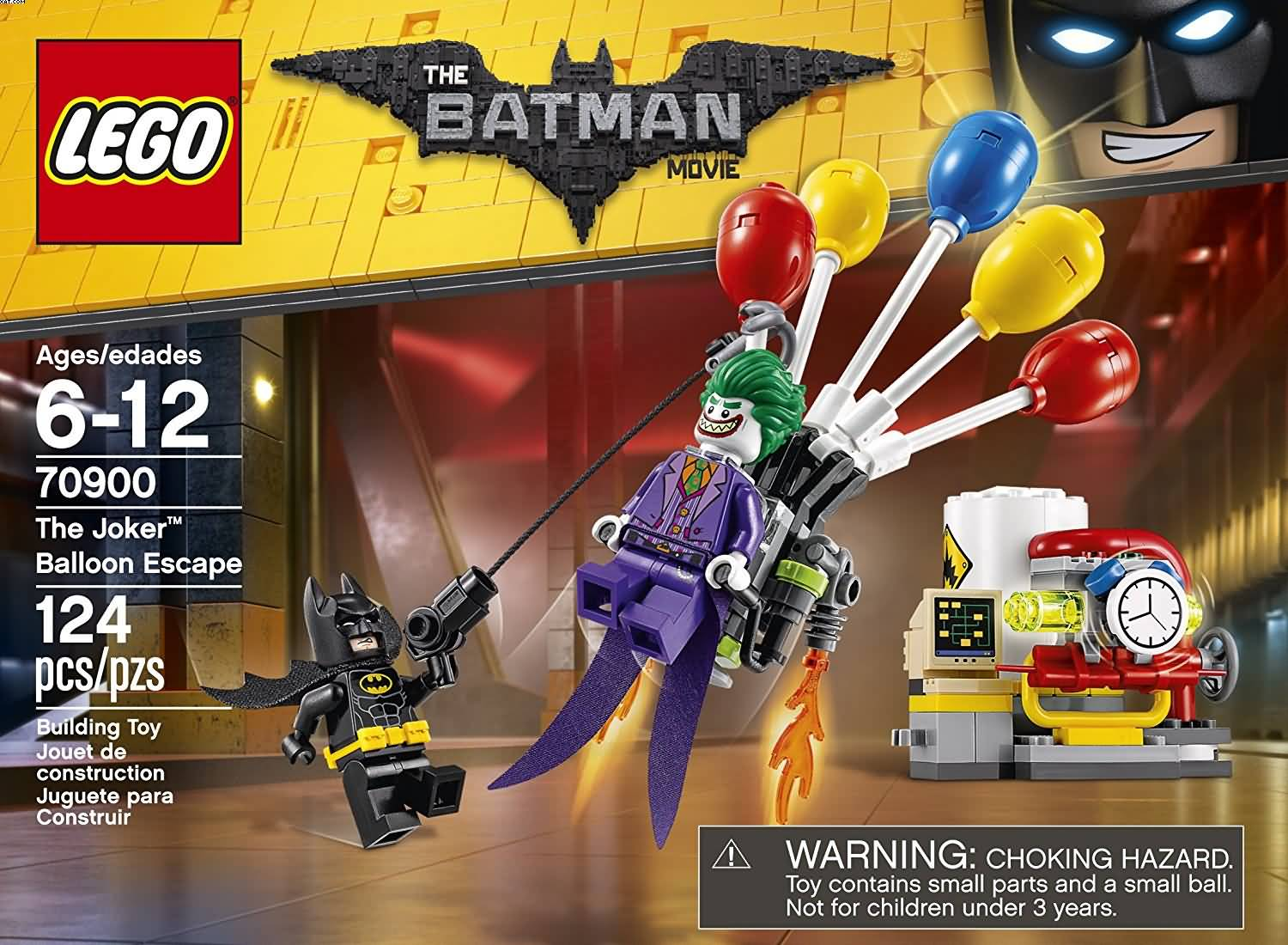Lego 70900 The Batman Movie The Joker Ballon Escape 124 Piezas