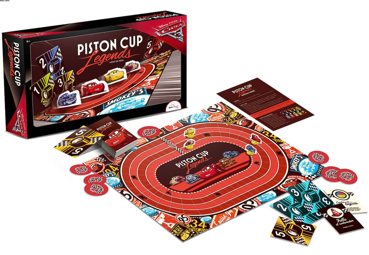 Cars 3 Piston Cup Legends Juego De Mesa